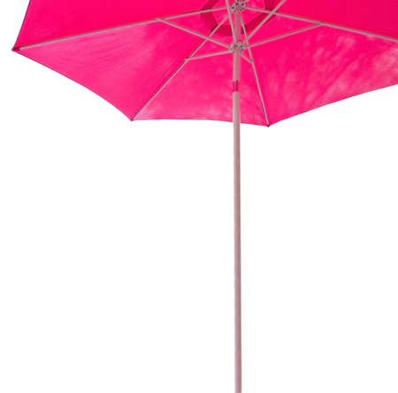 margin: Pink parasol margin isolated on white. Foto de archivo