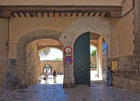 portals: PALMA DE MALLORCA, BALEARIC ISLANDS, SPAIN - APRIL 13, 2016: Old town portals in Palma de Mallorca, Balearic islands, Spain on April 13, 2016. Editorial