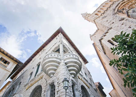SOLLER, MALLORCA, BALEARIC ISLANDS, SPAIN - SEPTEMBER 28, 2016: Soller architecture details on a sunny day on September 28, 2016 in Soller, Mallorca, Balearic islands, Spain. Editorial