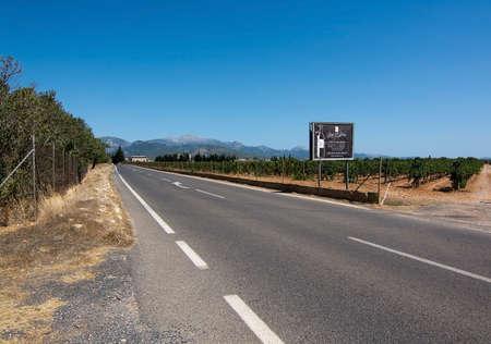 MALLORCA, SPAIN - AUGUST 7, 2017: Jose L. Ferrer vineyard on a sunny day on August 7, 2017 in Mallorca, Spain.