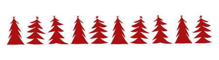 Christmas tree margin winter background, New Year digital illustration Stock Photo
