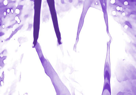 Ballroom dance floor abstract 18, digital painting in monochrome purple, male and female legs cast shadows in spotlight Stock Photo