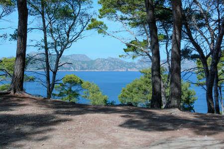 Paysage de Majorque Formentor vu de la péninsule d'Alcudia.