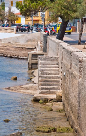 PALMA DE MALLORCA, SPAIN - JULY 21, 2012: Cala Gamba staircase into the water on July 21, 2012 in Mallorca, Spain.