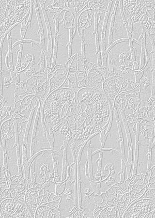 Vintage style art nouveau background texture in light cream gray with subtle relief floral pattern vertical