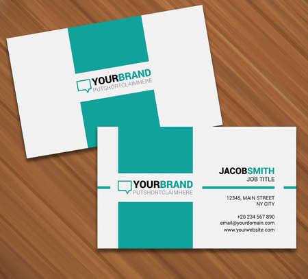 Business card design vector modern