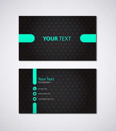 Business card design vector modern design