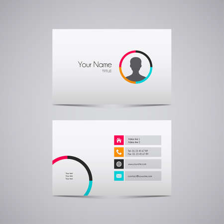 business cards: business card design vector modern