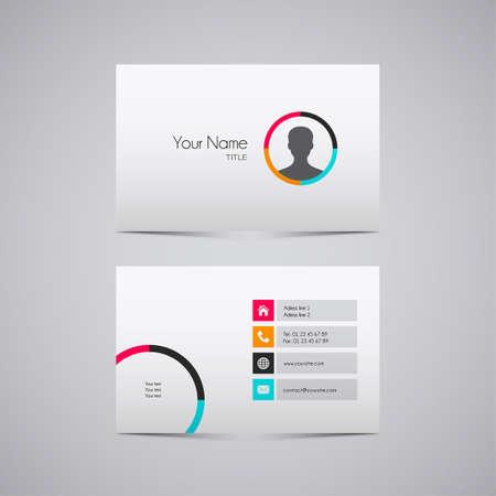 business card design vector modern