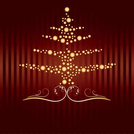 fond: Christmas card, greeting card, christmas tree 2015 fond display Stock Photo