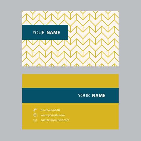 Business card design modern vintage retro