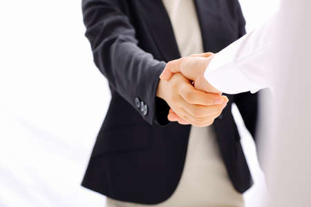 shaking out: business handshake