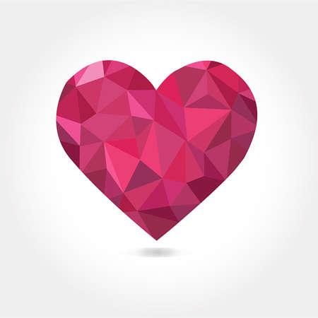 coeur diamant: Coeur triangulaire comme un diamant - l'image