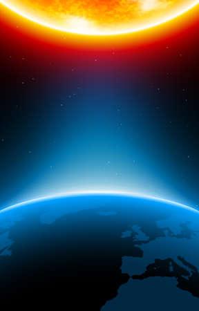 火星の惑星に地球