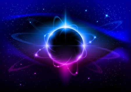 우주 행성 블루 성운