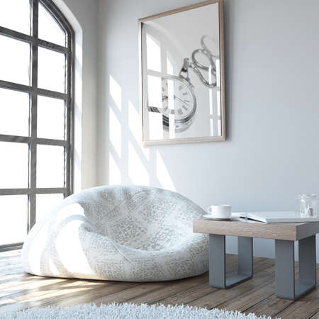 3D render of a Living Room Interior Stock Photo - 107679973