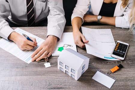 real estate house plans Standard-Bild