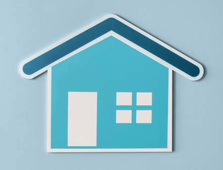 Home insurance cut out icon Stock Photo - 107755966