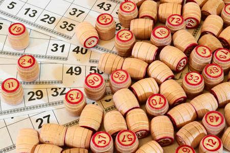lotto: Game Russian lotto (bingo play) on a white background