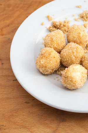 breadcrumbs: Delicious home made cottage cheese dumplings with breadcrumbs