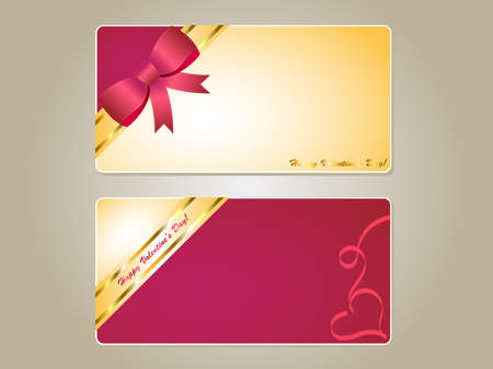 Vector illustration of two Valentine's Day gift card Фото со стока - 38215761