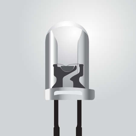 Vector illustration of a light emitting diode