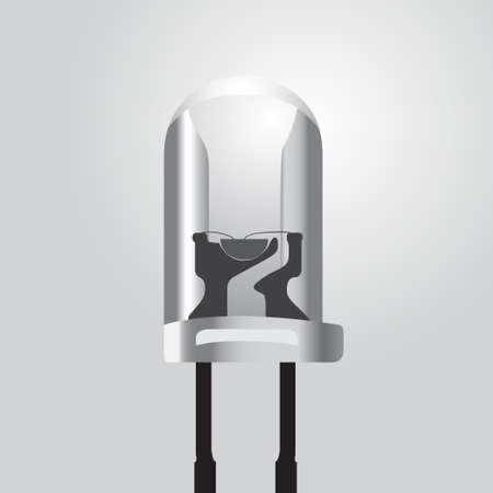 light emitting diode: Vector illustration of a light emitting diode