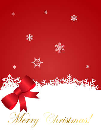 christmass: Vector illustration of a Christmass Backgroundwith snow falling on the ground Illustration