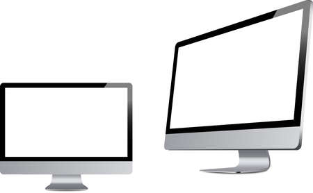 Vector illustrations of two monitors