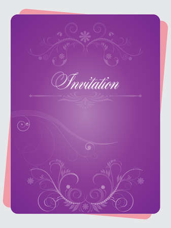 usage: Vector illustration of an invitation with multiple usage possibilities
