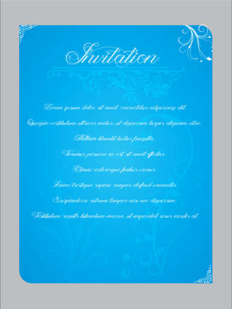 possibilities: Vector illustration of an invitation with multiple usage possibilities