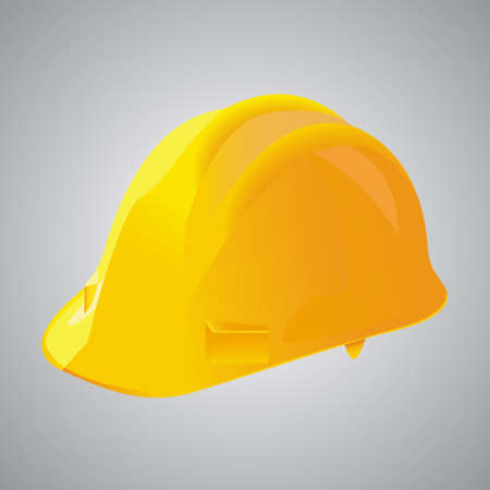 Vector illustration of a yellow protection helmet used on construction sites