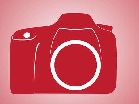 reflex camera: Colorful digital camera single reflex symbol