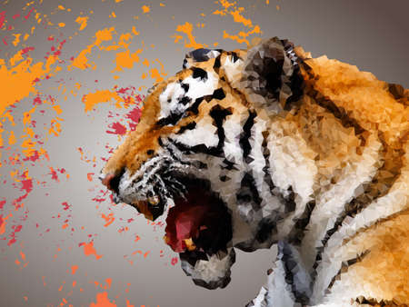 Polygonal design of a tiger.