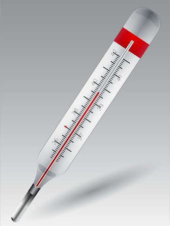 Vector illustration of a thermometer used to measure fever 版權商用圖片 - 41855120