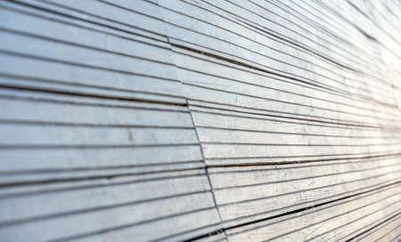 wood paneling: Close up of an interesting wood paneling Stock Photo