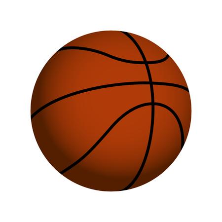 dribble: Orange Realistic Basketball Ball Vector Icon Isolated