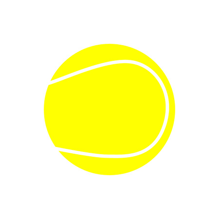 Yellow Tennis Ball Icon Isolated on White Background Illustration