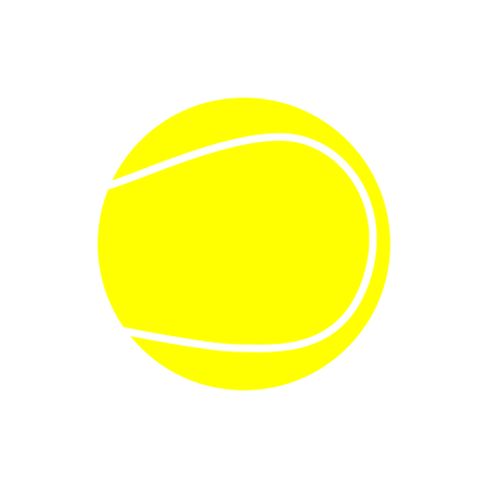 Yellow Tennis Ball Icon Isolated on White Background Stock Photo
