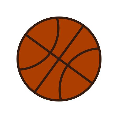dribble: Orange Basketball Ball Vector Icon Isolated