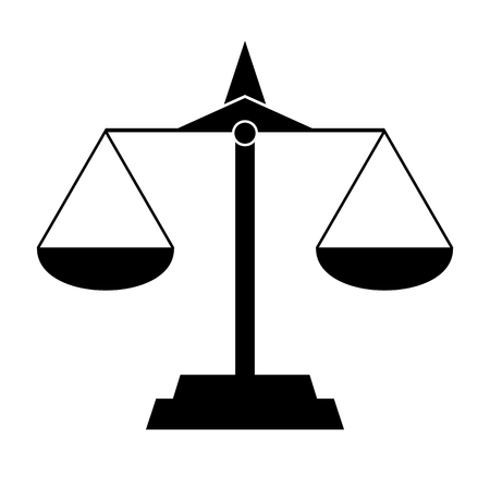 scale of justice: Black Scale Silhouette Vector Isolated, Justice - Equality Illustration