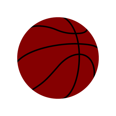 Dark Red Basketball Ball Vector Icon Isolated