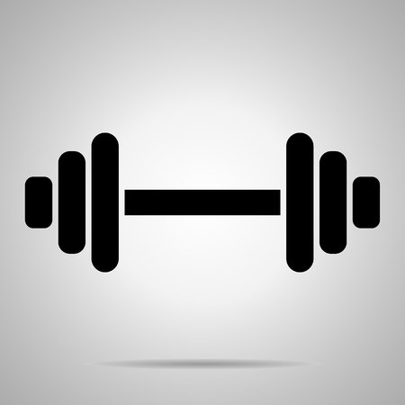 Dumbbell Silhouette Icon Vector Isolated, Fitness, Bodybuilding