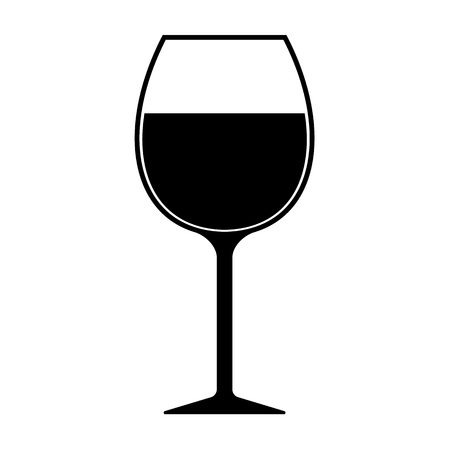 Wine Glass Silhouette Icon Vector Isolated