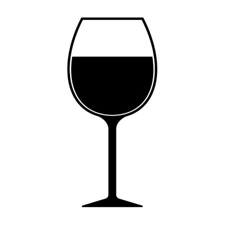 Wijnglas silhouet pictogram vector geïsoleerd