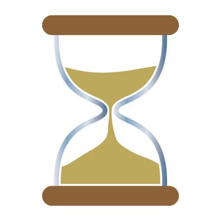 Gold Hourglass Icon Vector, Concept - Time, Urgency