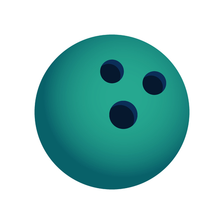 knocking: Green and Blue Bowling Ball Icon Isolated