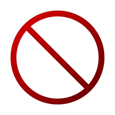 Dark Red Forbidden Sign Vector Isolated - Prohibition, Warning