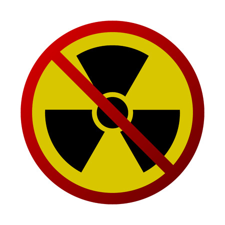 Abstract Radiation Forbidden Sign Isolated - Antiwar, Nuclear Threat Stock Photo