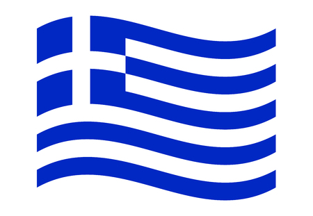 Greek National Flag Waving Isolated - Official Proportions